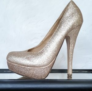 Gold Glitter Stilettos